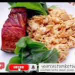 Keto Salmon Fried With Scrambled Eggs Recipe